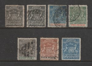 Rhodesia a small lot of old used ones