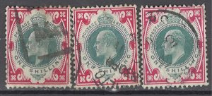 COLLECTION LOT OF #1050 GREAT BRITAIN #138a*3 1911 CLEARANCE CV=$210
