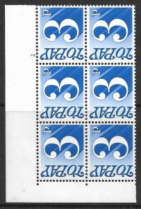 Sg D80 Spec Z66 3p 1970 Decimal Postage Due Cyl 2 no dot UNMOUNTED MINT/MNH