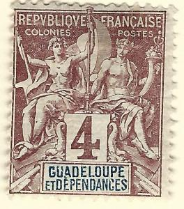Guadeloupe SC #29 French Colony Fine Mint hr.....Make me an Offer!