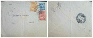 O) 1929 COLOMBIA, SCADTA - PLANE OVER MAGDALENA RIVER SC C25 5c - SC C27 15c, SA