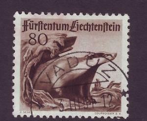 J8197 JLs stamps 1950 hv set liechtenstein #245 used $45.00v