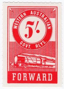 (I.B) Australia - Western Australia Railways : Parcels 5/-