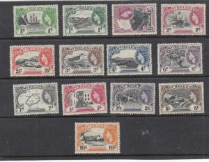 ST HELENA QE11 ISSUES VF-MH 1/2d to 10sh