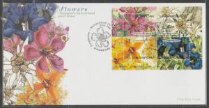 2001 Singapore-Switzerland Joint Issue - Flowers MS FDC SG#MS1126
