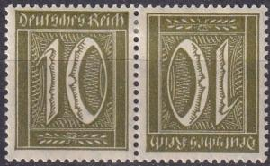 Germany #138a  F-VF Unused Tete-Beche Pair CV $5.50 (A19229)