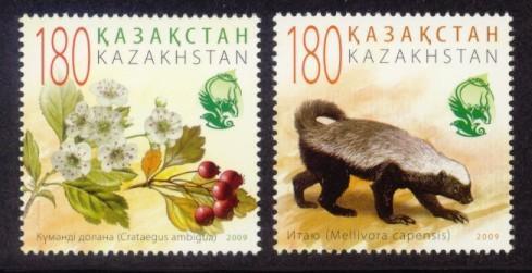 Kazakhstan Sc# 606-7 MNH Flora & Fauna