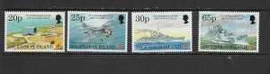 ASCENSION ISLAND - 1995 END OF WORLD WAR II - SCOTT 613 TO 616 - MNH