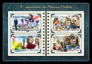 HERRICKSTAMP NEW ISSUES ST. THOMAS Princess Charlotte Sheetlet