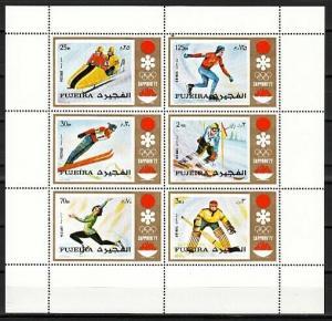 Fujeira, Mi cat. 819-824 A. Sapporo Winter Olympics sheet. Mailed Folded.