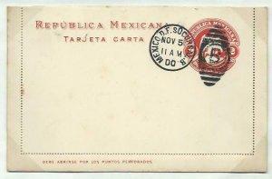 MEXICO 2c lettercard 1899 CTO 1900.........................................58749