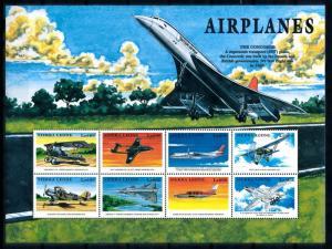 [76933] Sierra Leone 1999 Aviation Aircrafts Sheet MNH