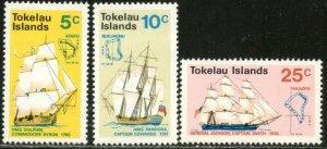 TOKELAU Sc#22-24 1970 Discovery Anniversary Complete Set OG Mint NH