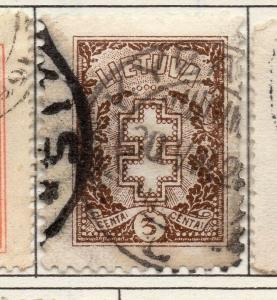 Lithuania 1921-27 Early Issue Fine Used 3c. 174364