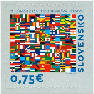 SLOVAKIA/2020 - The 75th Anni. of the Founding of the United Nations (Flag), MNH