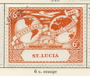 St Lucia 1949 GVI Early Issue Fine Used 6c. NW-154987