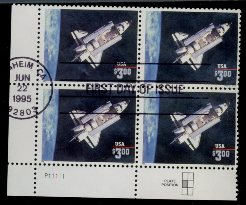 2544 Used PLate Block XF Frist DAy Cancel