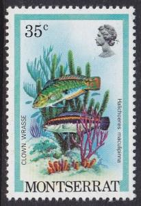 Monserrat 1981 SG495 UHM