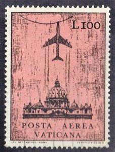 VATICAN CITY SC# C51 USED 100L  1967 AIRMAIL SEE SCAN