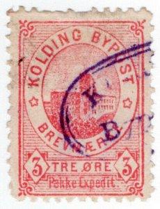 (I.B) Denmark Local Post : Kolding 3 Ore
