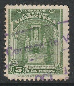 Venezuela 1947 5c used South America A4P53F37