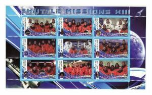 Malawi - Space Missions - 9 Stamp  Sheet  SV0745