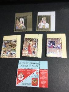 Vatican #1390-5 Mint VF-NH 2020 Cat. $17.75 Three Diff. Cpl. 2008 Commem. Sets