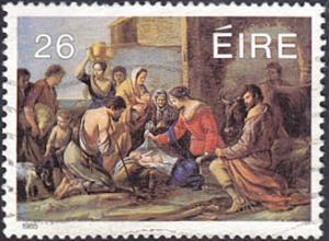 Ireland # 652 used ~ 26p Christmas - Adoration of the Shepherds