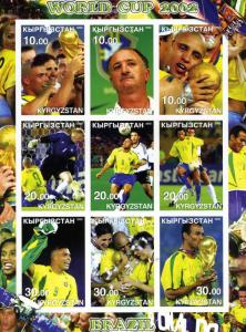 Kyrgyzstan 2002 Football Brazil 2002 Sheet Imperforated mnh.vf