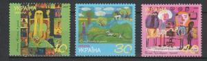 Belarus 2001 Art Children Paintings MNH 3 stamps