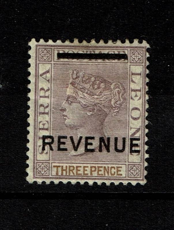 Sierra Leone - 3p Victoria Revenue - Mint Hinged / Multi H. Rems - Lot 080717