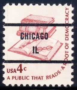 Chicago IL, 1585-81 Bureau Precancel, 4¢ Books