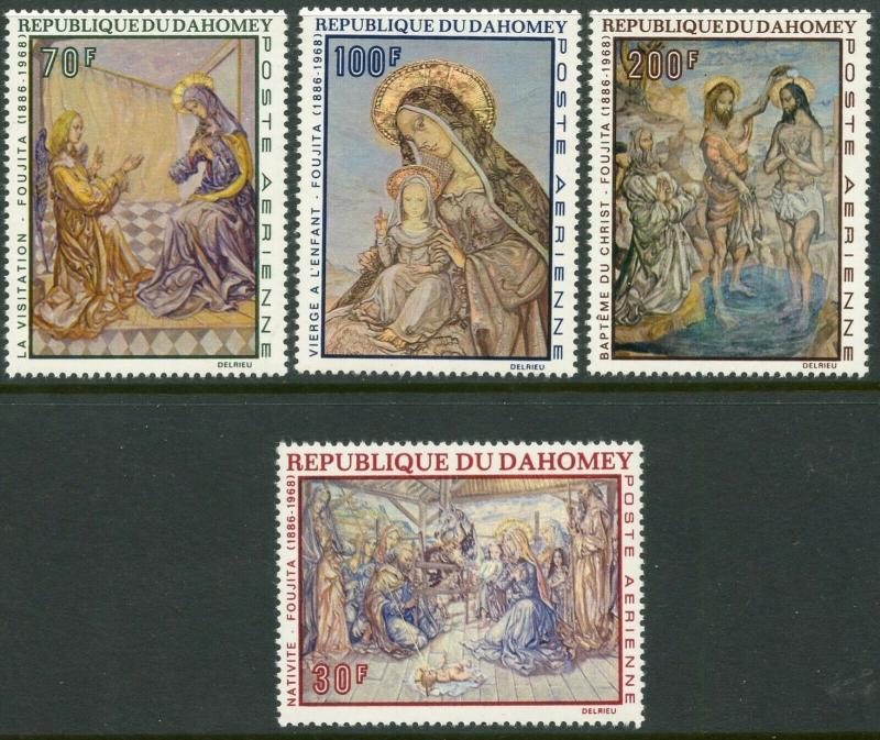 DAHOMEY Sc#C89-C92 1968 Christmas Paintings Complete Set OG Mint NH