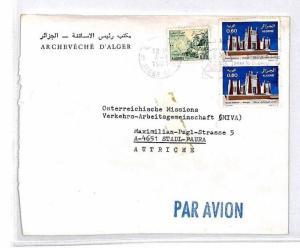 ALGERIA Cover *Alger Gare* Missionary Air Mail MIVA Austria 1978 CM303
