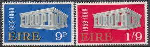Ireland 270-1 MNH - Europa 1969