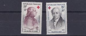 FRANCE 1959       SG 1448 - 1449   RED CROSS SET      VLMH   F711
