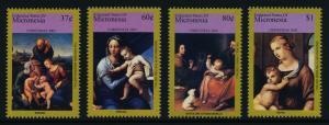 Micronesia 668-72 MNH Christmas, Art, Paintings