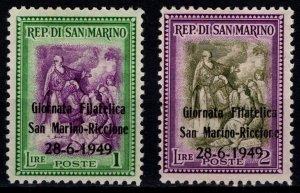 San Marino 1949 Stamp Day Optd Giornata Filatelica San Marino-Riccione [Unused]