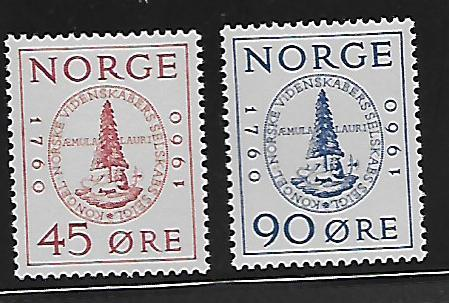 NORWAY 380-381 MINT HING SOCIETY SEAL