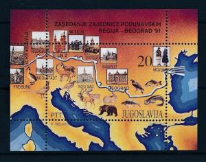 [47595] Yugoslavia 1991 Animals Fish Deer Birds Vögel Oiseaux Bear MNH Sheet