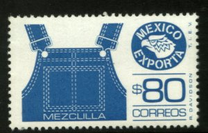 MEXICO Exporta 1469, $80P OVERALLS, FLUORESCENT PA[ER 8, MINT, NH. VF.