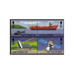 Isle of Man 363-366a,MNH.Michel 367-370. EUROPE CEPT-1988.Telecommunication.