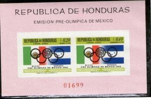 Honduras C435X imperforate MNH footnote .