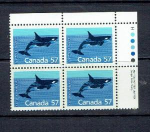 CANADA - 1988 KILLER WHALE - HARRISON PAPER - URPB - SCOTT 1173i - MNH