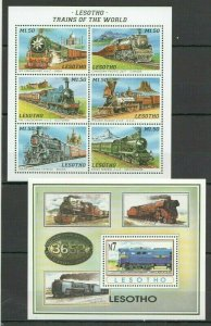 KS LESOTHO TRANSPORT TRAINS OF THE WORLD SOUTH AFRICAN RAILWAY KB+BL FIX