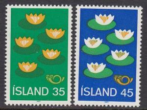 Iceland 496-7 mnh