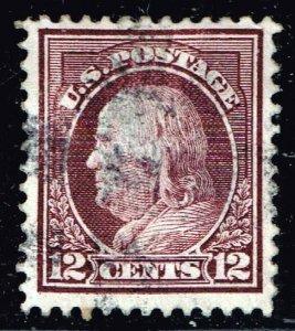 US STAMP #417 Series of 1912-14 12¢ Franklin USED
