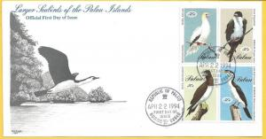 Palau #324A - D FDC 50c Birds