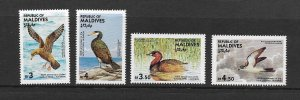 BIRDS- MALDIVES #1079-82  MNH