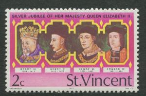 St Vincent - Scott 486 - Kings and Queens -1977 - MNH - Single 2c Stamp